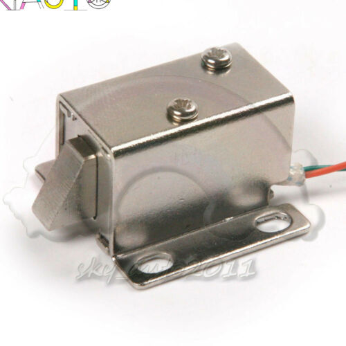 DC 12V Electric Solenoid Lock Tongue Upward Assembly for Door Cabinet DrawerL1SA