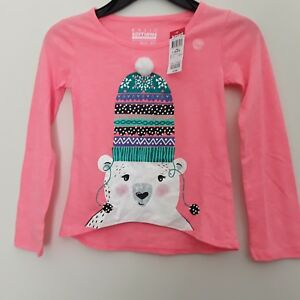Girls-top-size-X-Small-long-sleeves-brand-Basic-Editions-new-with-tags
