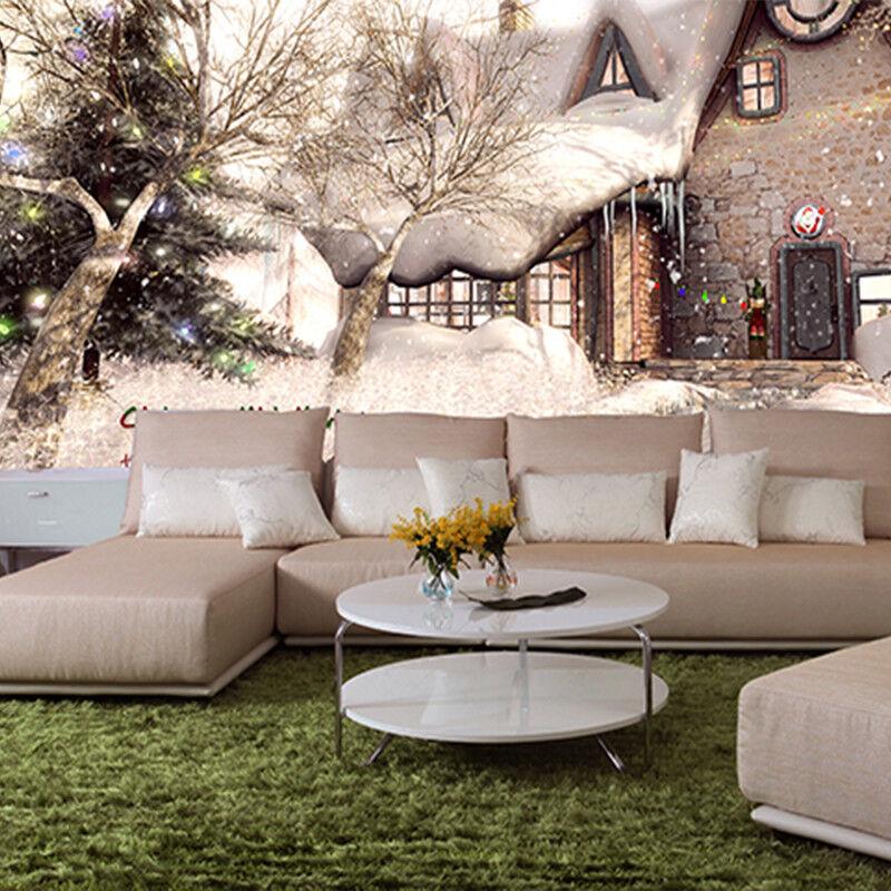 3D Weihnachten Schneehütte 97 Tapete Wandgemälde Tapete Tapeten Bild Familie DE