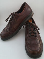 MEPHISTO MENS 12 MATCH DESERT BROWN LEATHER WALKING OXFORD SHOES ARCH SUPPORT