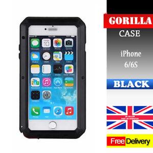 Waterproof-Shockproof-Metal-Aluminum-Gorilla-Case-For-iPhone-6-6S-BLACK-NEW