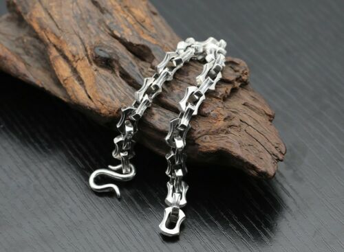 925 Sterling Silver  Retro Punk men/'s  chain bangle Bracelet jewelry 21cm S2673