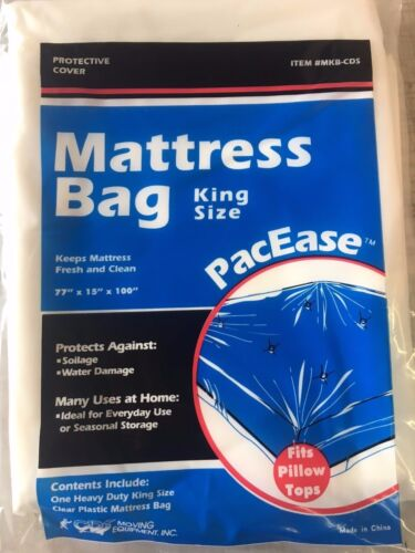 MATTRESS COVER KING SIZE BAG ALLERGY PROTECTOR FITS PILLOW TOP.