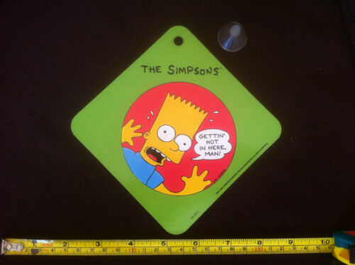 // Now I Feel Cool /& Sucker The Simpsons Car Sign 1991 Gettin Hot in Here Man