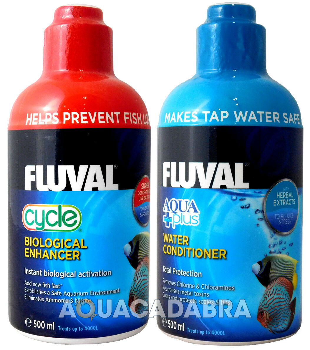 FLUVAL AQUAPLUS & CYCLE BIOLOGICAL WATER CONDITIONER FISH FISH FISH TANK TAP SAFE NUTRAFIN f00418