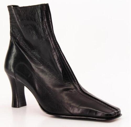Nuevo Mujeres Etienne Aigner Cuero Mitad de Pantorrilla De Cremallera lateral Bota De Pantorrilla Tacón Alto Zapato M ca662f