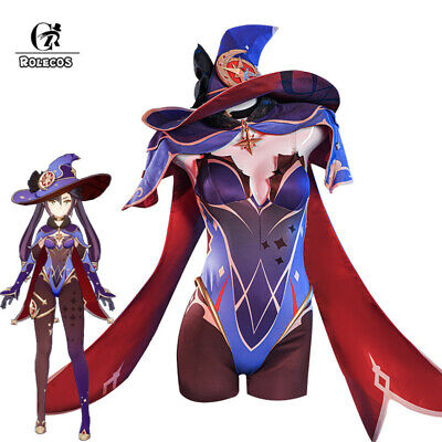 Genshin Impact Mona Magical Girl Cosplay Costume Jumpsuit Cape With Hat Full Set