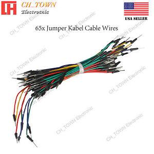 65-un-Sin-Soldadura-Flexible-Breadboard-Macho-a-macho-cable-de-alambres-para-Arduino-Salto