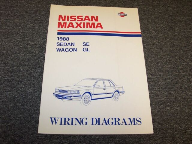 1988 Nissan Maxima Sedan  U0026 Wagon Electrical Wiring Diagram