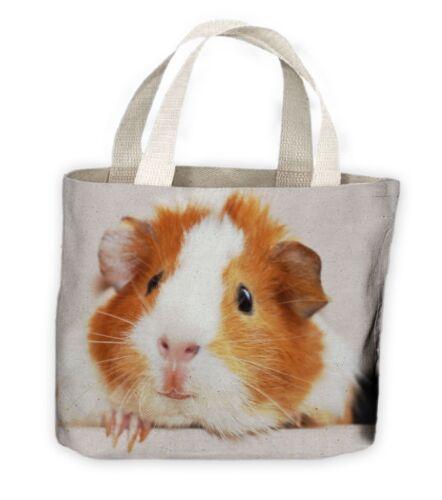 Guinea Pig Visage Fourre-tout Shopping Sac pour la vie-Mignon Pet porcs