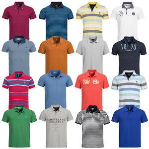 Timberland-Herren-Polo-Shirt-Freizeit-S-M-L-XL-XXL-XXXL-Hemd-Polohemd-Poloshirt