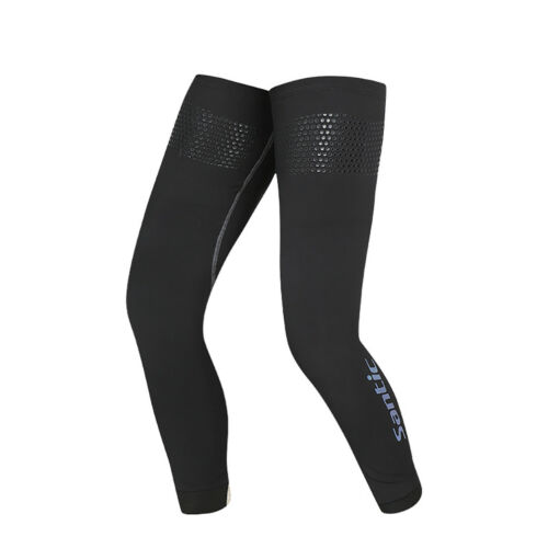 Santic Sports Leg Warmer Cover Running Cycling UV Protection Breathable Black