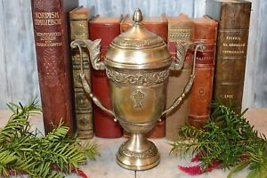 Antique-Italian-Spanish-Silverplate-Loving-Trophy-Cup-December-1949-Car-Racing