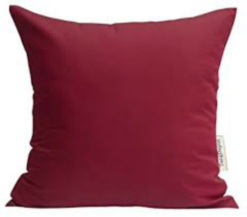 """100/% Cotton ZARAH HOME Durable Red FILLED Cushions Quality Zips 18/"""" 45 cm"""