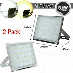 2x-150W-LED-Flood-Lights-Waterproof-Outdoor-Spotlights-Garden-Yard-Lighting-USA