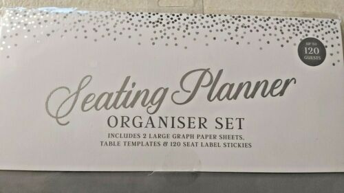 WEDDING//PARTY ORGANISING SET-TEMPLATES /& STICKERS 120 GUEST SEATING PLANNER