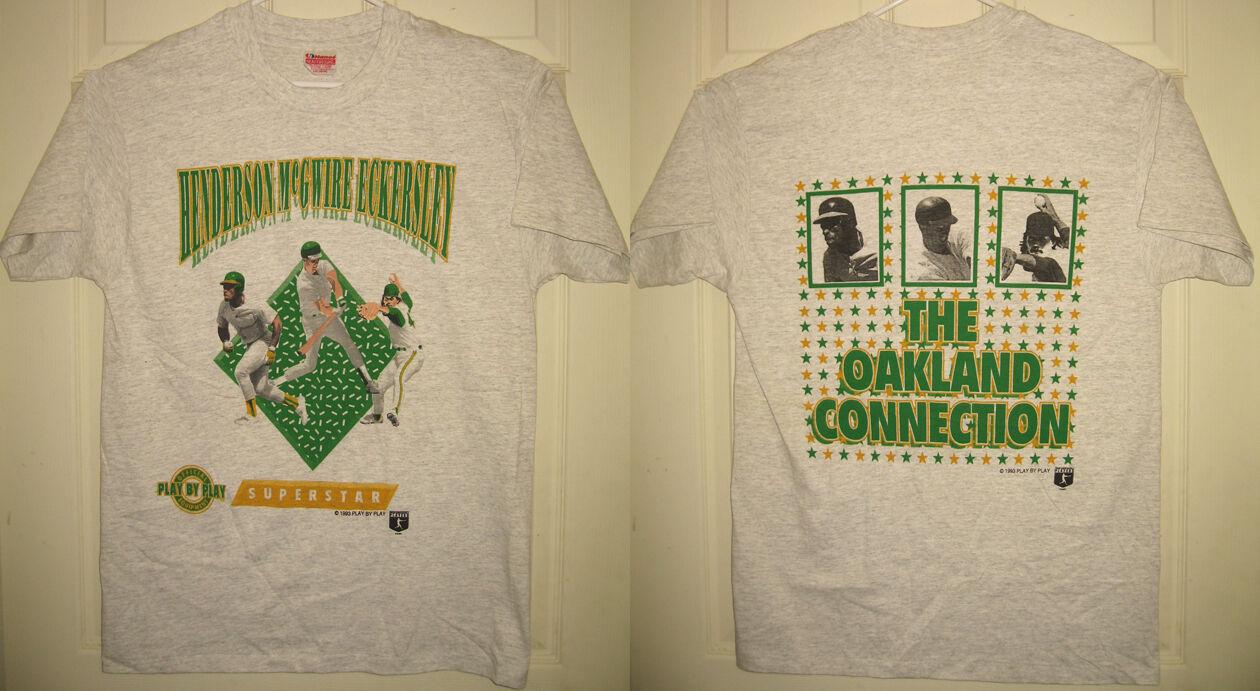 ATHLETICS Shirt L 1993 Oakland Connection McGwire MLB Vintage OOP VTG HTF RARE