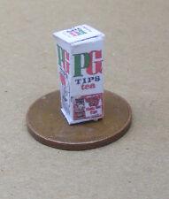 Vacío Pg Tips bolsa de té Caja Casa de Muñecas Miniatura Paquete Cocina Alimentos Accesorio ad