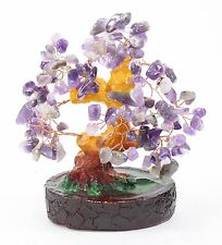 "5"" Feng Shui Amethyst Purple Money Tree Wealth Fortune Blessing Gift US Seller"