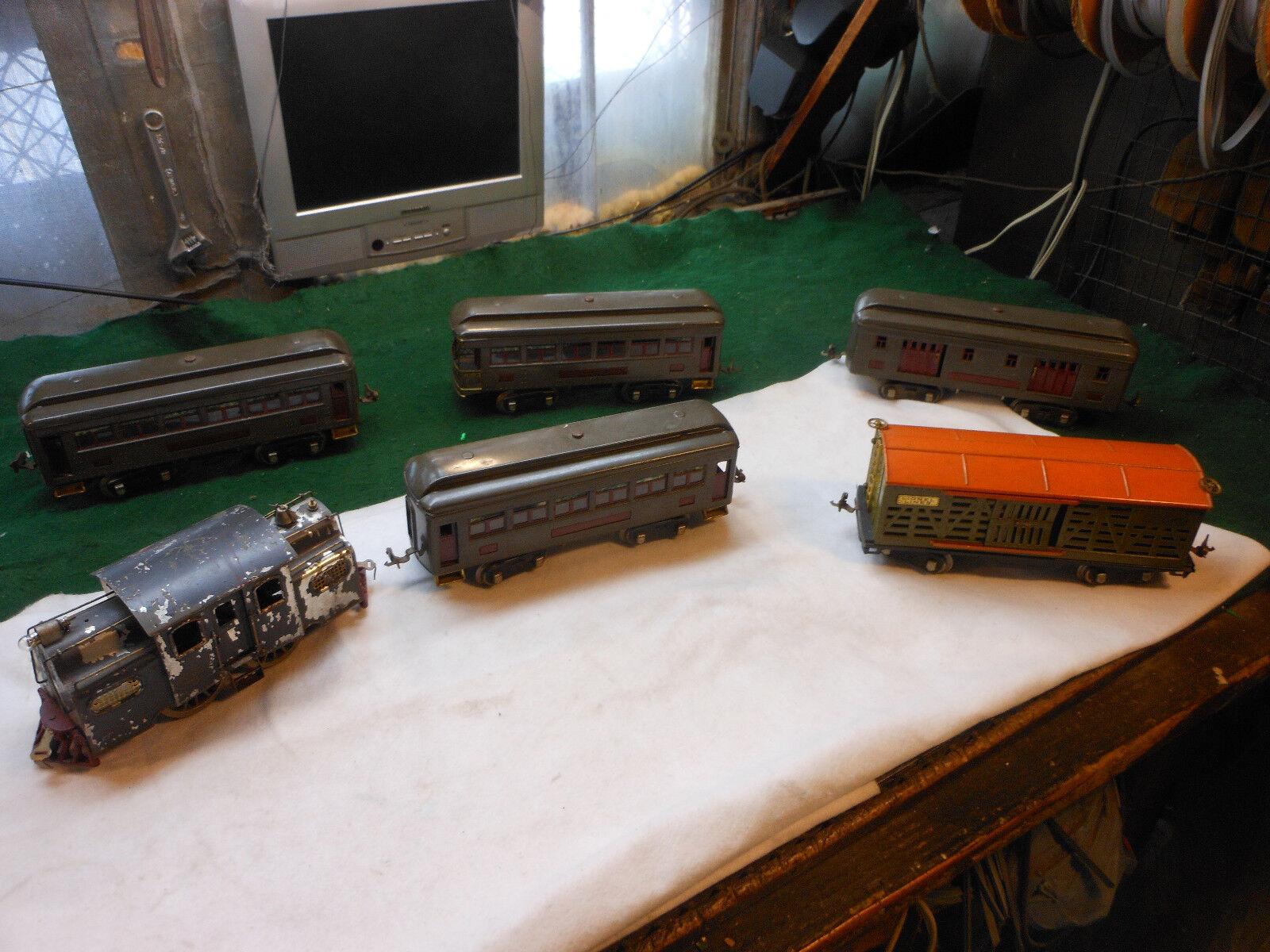 Vintage Lionel Train Lot Prewar Standard Gauge - 332 341 (2X339)  513 (38 Motor)