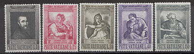 "Ruf Zuerst Vatikan 1964 "" Michelangelo "" Satz Nr 0431 3 454-58**"
