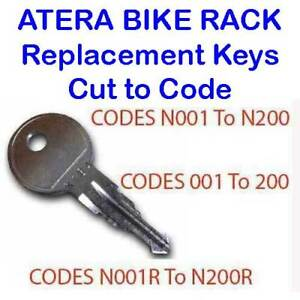 2-x-Atera-Bike-Cycle-Rack-Carriers-Replacement-Keys-Cut-to-Code-001-to-200