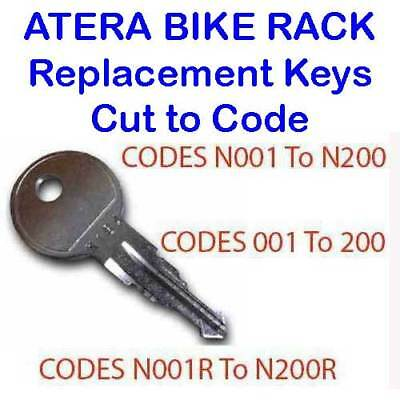 2 X Atera Bike Cycle Rack Carriers Replacement Keys Cut To Code 001 To 200 Verkoopprijs