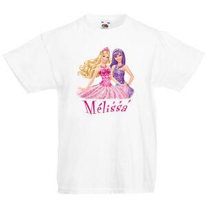 en soldes f225a 8300e Détails sur Tee shirt BARBIE ET LA POP STAR Enfant personnalisé avec prénom