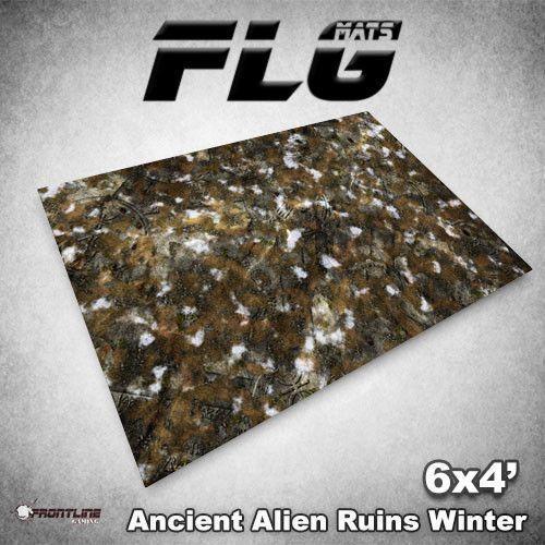 Esteras  antiguas ruinas nieve FLG 6x4' Estera de juegos de mesa de alta calidad de neopreno