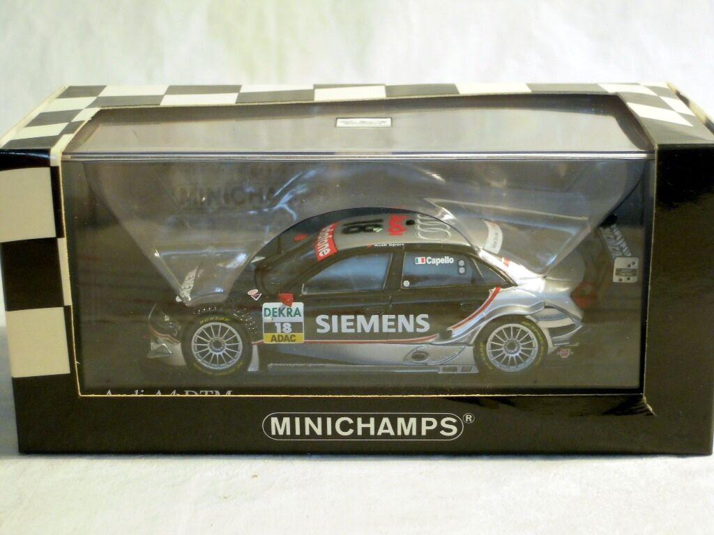 Minichamps 400051418: AUDI a4, DTM 2005, team Joest  18 P. Capello, NUOVO & OVP