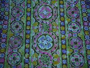 Vintage-Mid-Century-Sanderson-Cotton-Interiors-Fabric-039-Karnak-039-Stylised-Daisies