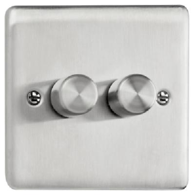 BG en acier brossé Screwless Alimentation USB Double prise 4 ports FBS24U44G Gris