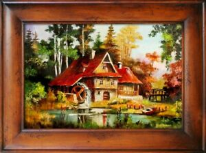 Landscape-Baroque-Painting-Handmade-Oil-Picture-Frame-G06204