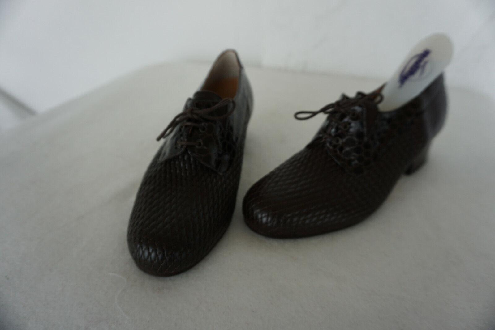 De Chien Molliter Confortable Femmes Comfort Chaussures Gr.35 Braun Cuir Verni