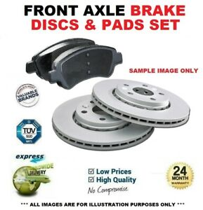 Front Axle BRAKE DISCS + PADS for MITSUBISHI ATTRAGE Saloon 1.2 2013->on