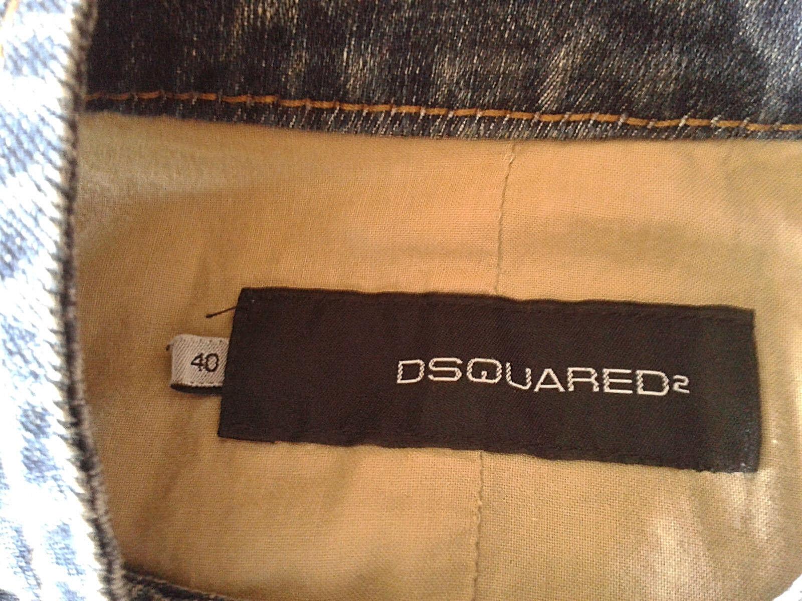 Authentic DSQUARED 'CIVIL WAR' WAR' WAR' jeans vest 72FB002 tg.40 d5c1c5