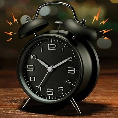 Vintage Extra Loud Alarm Clock Twin Bell Battery Analogy ...