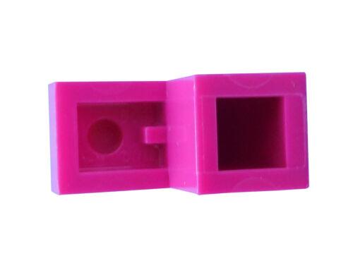 Lego 10 Stück Bogenstein purpur magenta Stein gebogen 1x2x1 1//3 Neu 6091 Basics