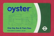 Oyster Card === One Day Bus & Tram Pass === RARE card for London transport