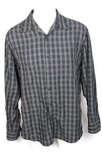 MB Studio Dress Shirt Size L Men's Black Casual Long Sleeve Button
