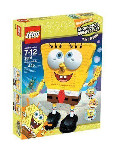 Nytt sigill LEGO 3826 SvampBob Bygg - A - Bob Super Sällsynt Pensionerad Utgångsobjekt