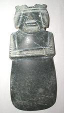 Beautiful Large Pre-Columbian Jade Ax God Pendant ~ Costa Rica C. 200 - 600 AD