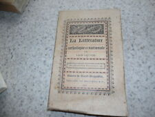 1894.Littérature catholique et nationale.Moyen age.Léon Gautier