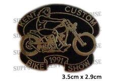 HELLS ANGELS KENT CUSTOM BIKE SHOW 1991 Pin Badge HIGHLY COLLECTABLE RARE KCBS