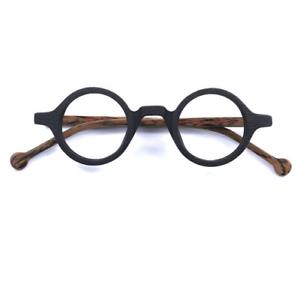 c645a32c168 Image is loading Handmade-Acetate-Wood-Eyeglass-Frames-Small-Round-Eyewear-