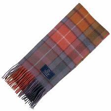 Scottish 100 % Authentic Wool Tartan Buchanan Antique Scarf New !