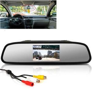 4 3 lcd tft display auto monitor innenspiegel r ckspiegel. Black Bedroom Furniture Sets. Home Design Ideas