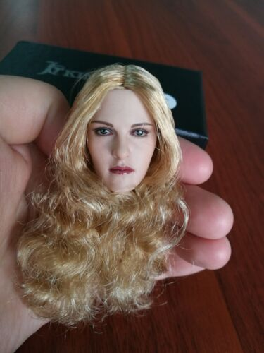 KIMI TOYS 1//6 KT010 Female Head Carved Europe Head Toy Blonde Curly Hair Head