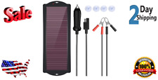 New 18w 12v Solar Car Battery Charger Maintainer Portable Solar Panel Trickle