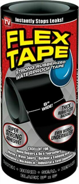 Professional Strength Rubberized Tape Outdoor Repair Waterproof 2X 5 ft x 4 in
